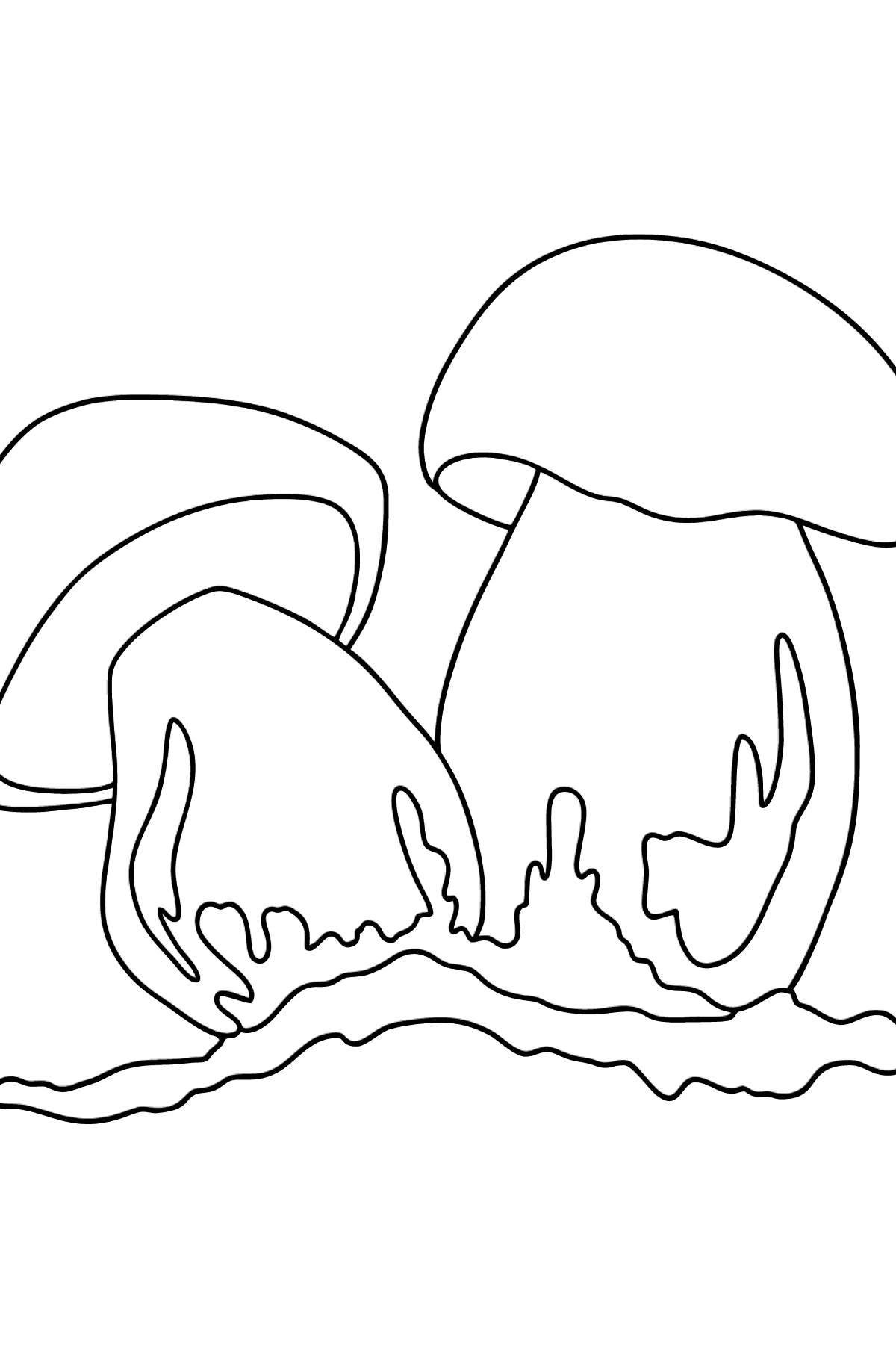 Lurid boletus coloring page - Coloring Pages for Kids