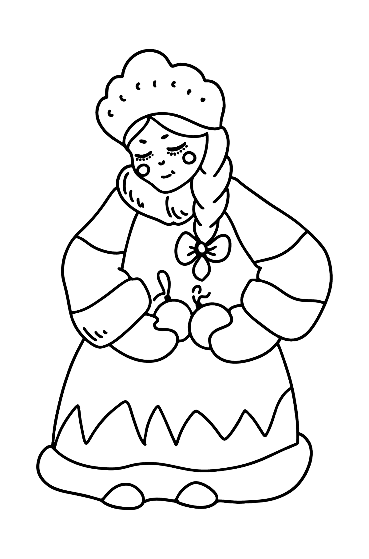Snow princess coloring page - Coloring Pages for Kids