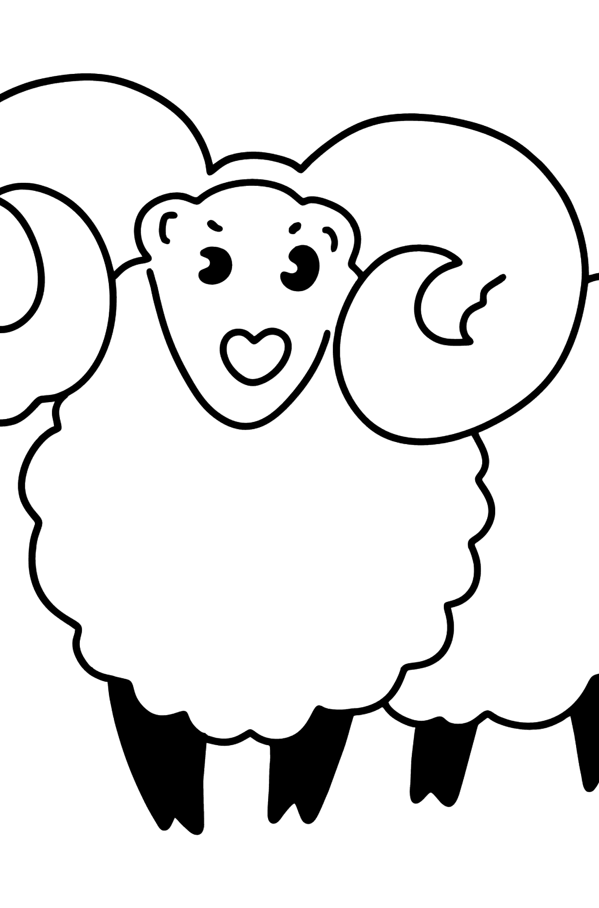 Home Lamb coloring page - Coloring Pages for Kids