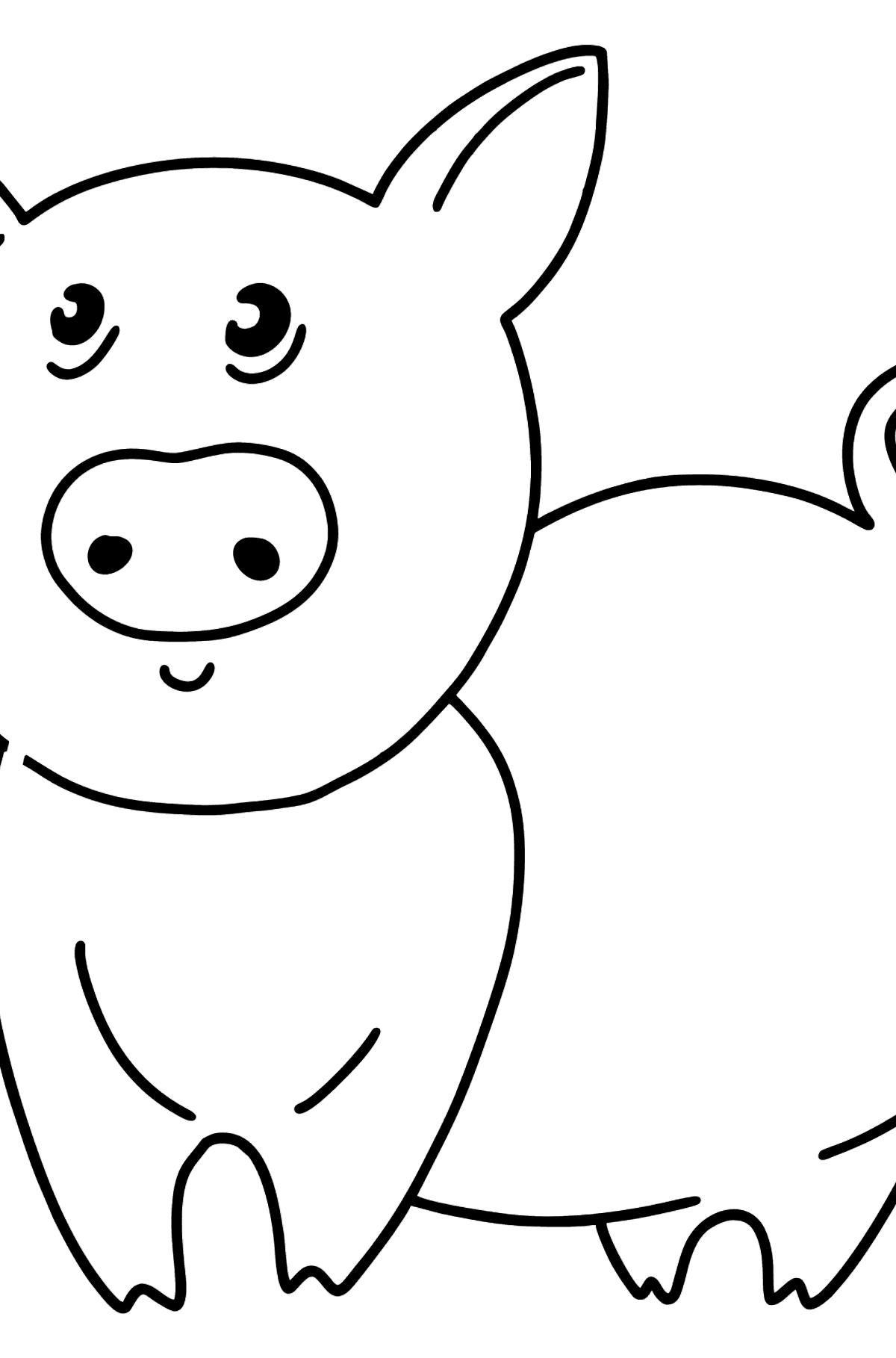 Piglet coloring page - Coloring Pages for Kids