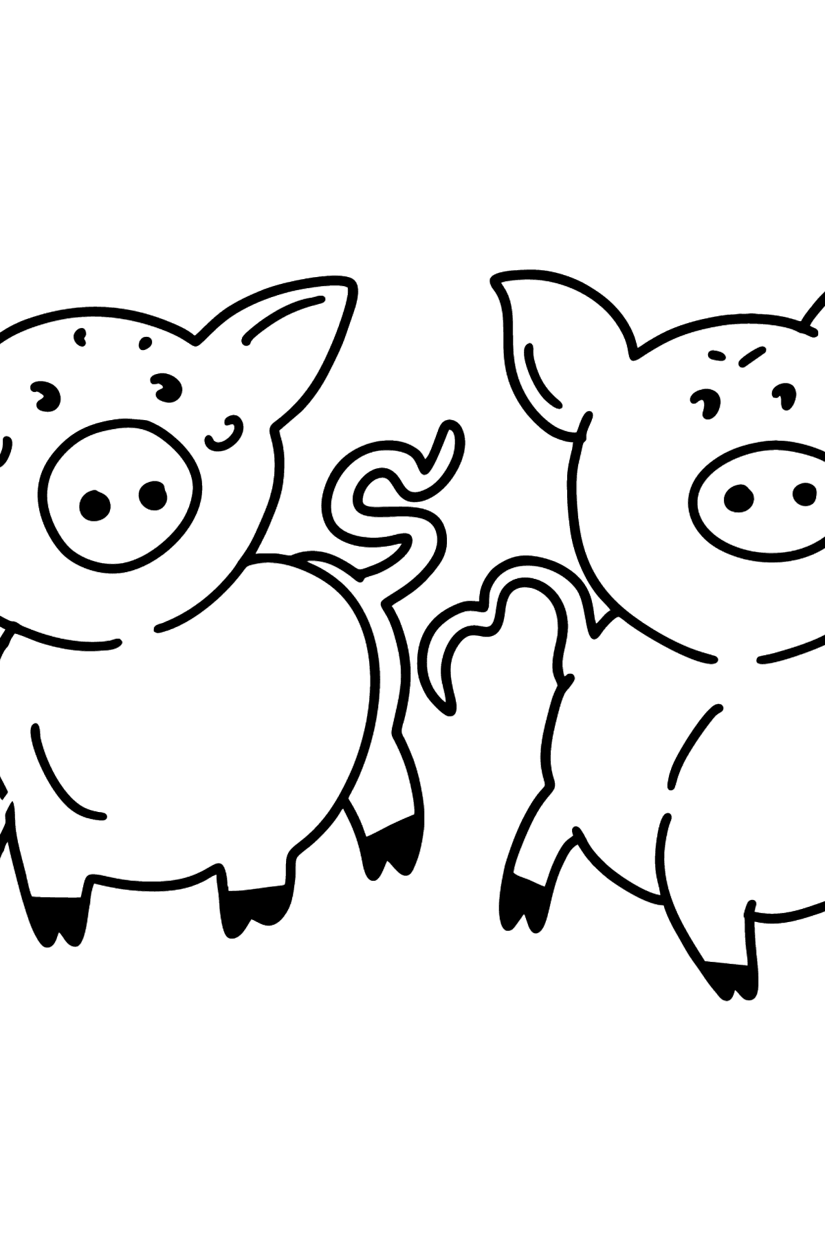 Piglets coloring page - Coloring Pages for Kids