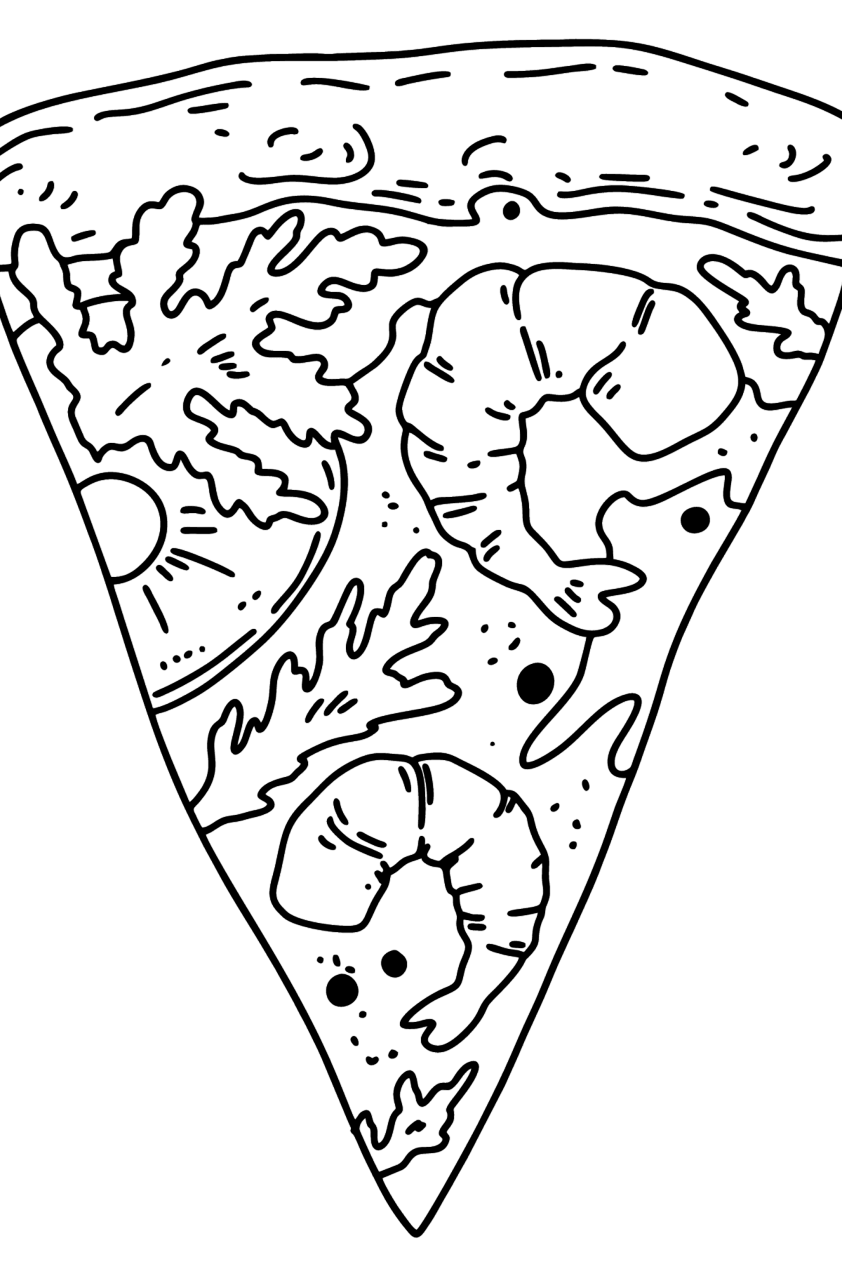 Shrimp Pizza coloring page - Coloring Pages for Kids