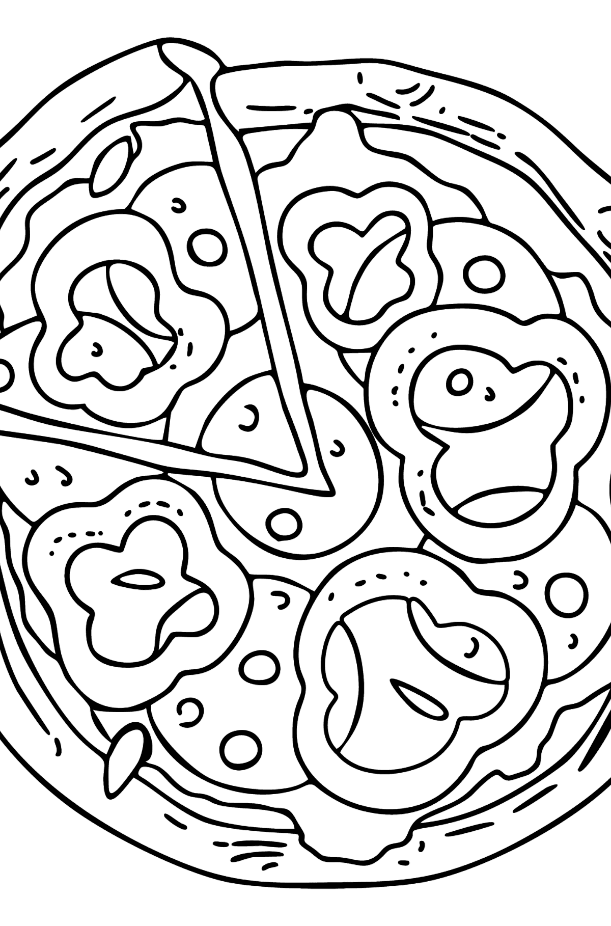 Tasty Pizza coloring page - Coloring Pages for Kids