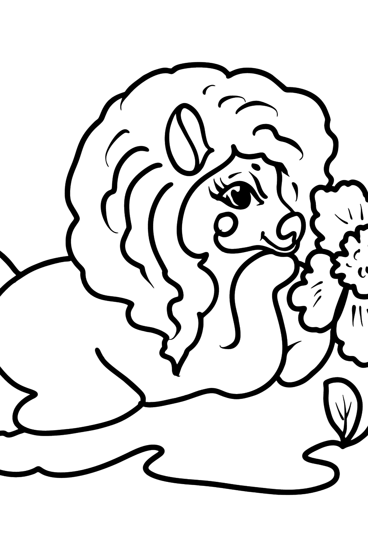 Pony is Resting coloring page - Coloring Pages for Kids