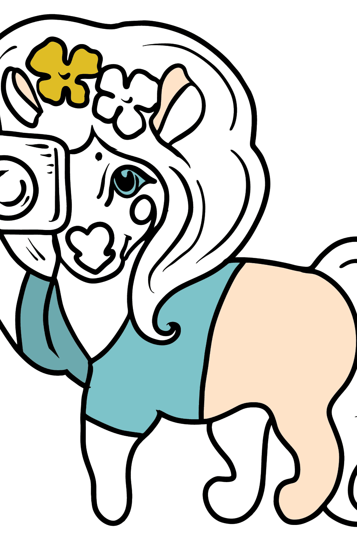 Pony Photographer coloring page - Coloring Pages for Kids