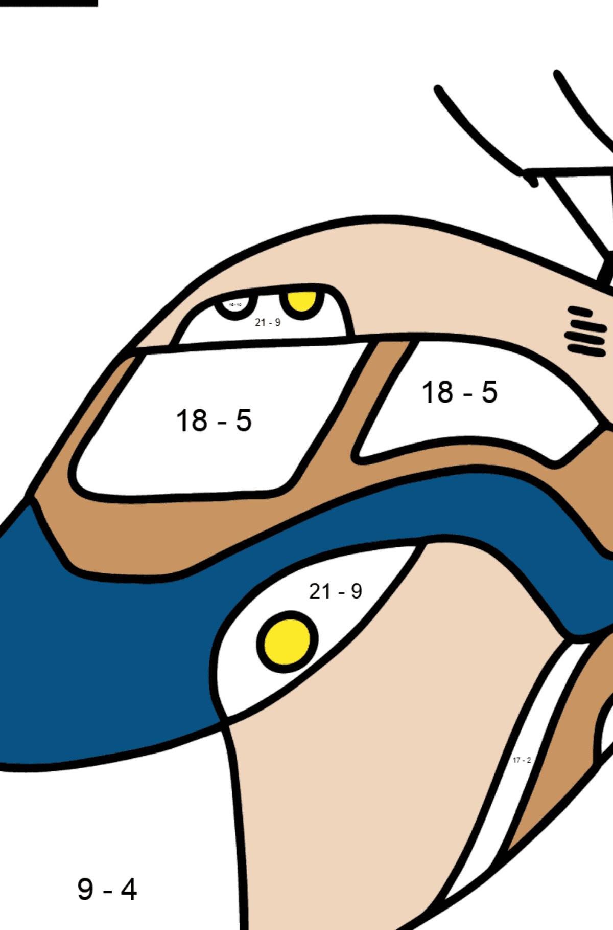 Portuguese Letter T coloring pages - TREM - Math Coloring - Subtraction for Kids