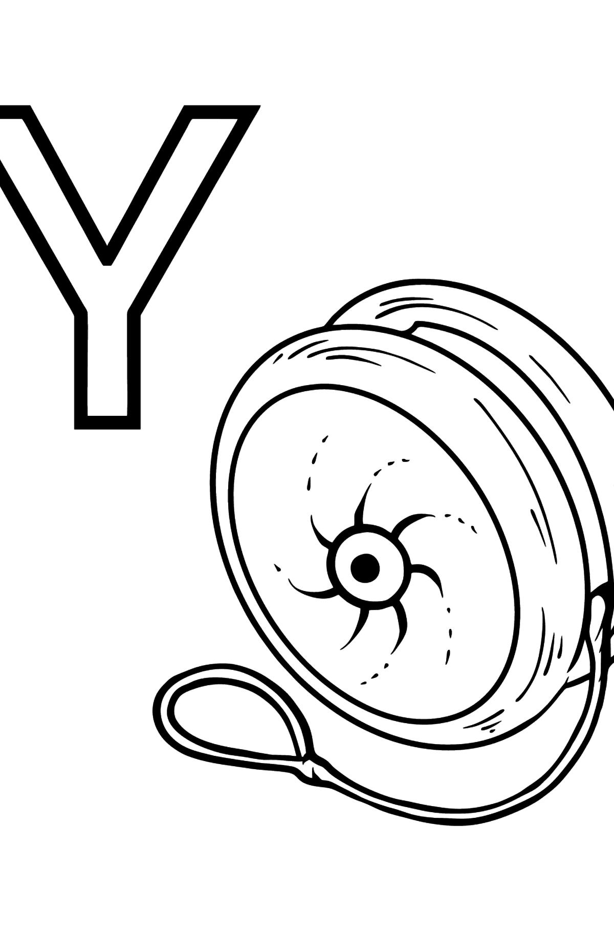 Portuguese Letter Y coloring pages - YO YO - Coloring Pages for Kids