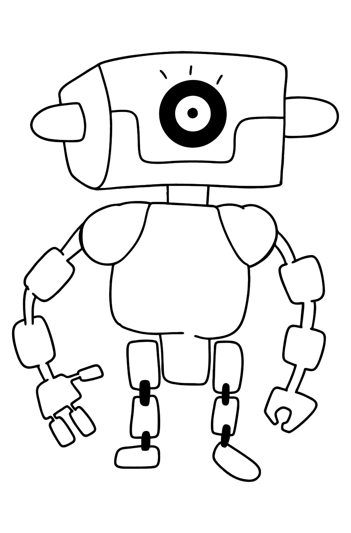 Раскраска очаровательный робот - Картинки для Детей