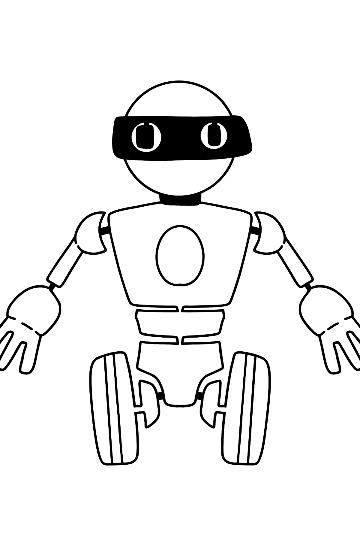 Cartoon Robot coloring page - Coloring Pages for Kids
