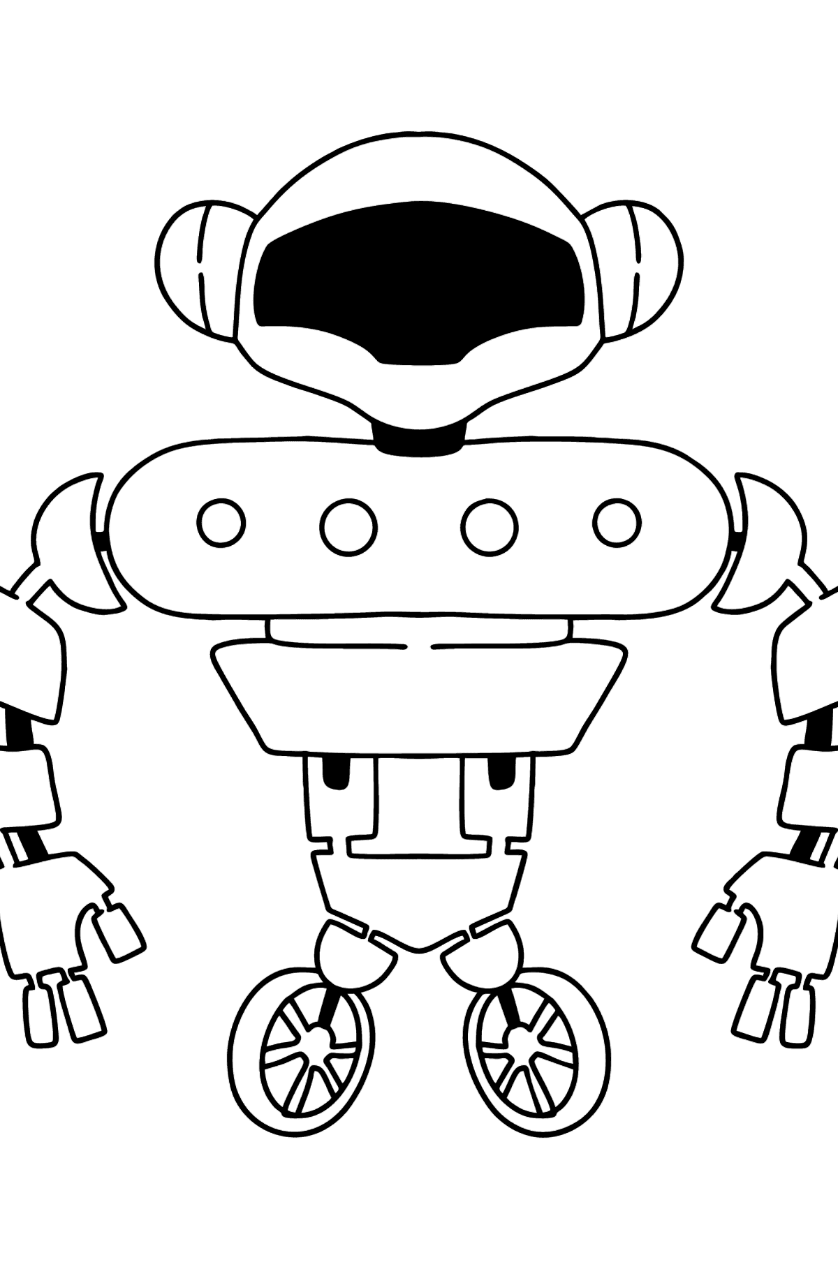 Cute Robot coloring page - Coloring Pages for Kids