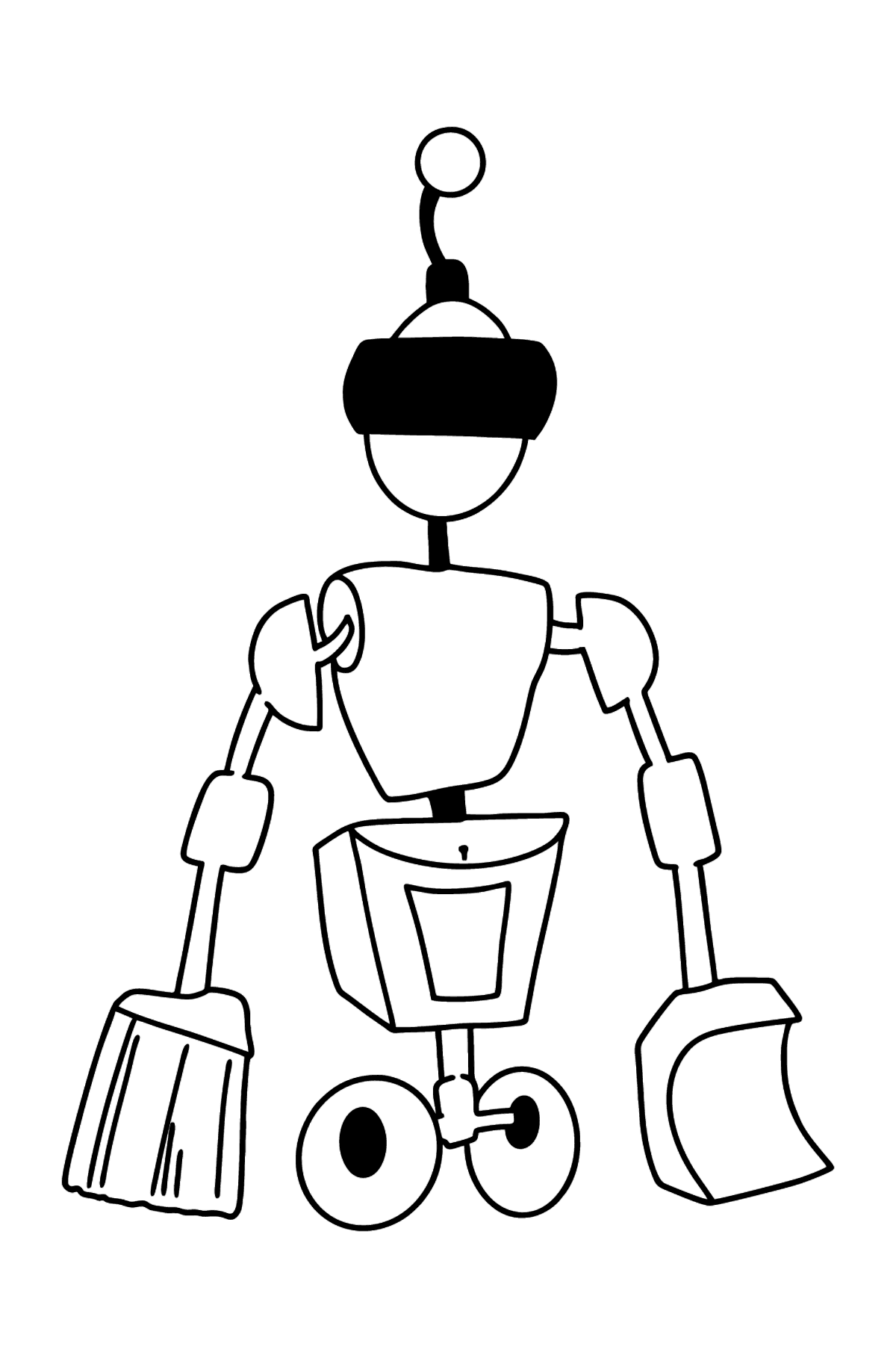 Cleaning Robot coloring page - Coloring Pages for Kids