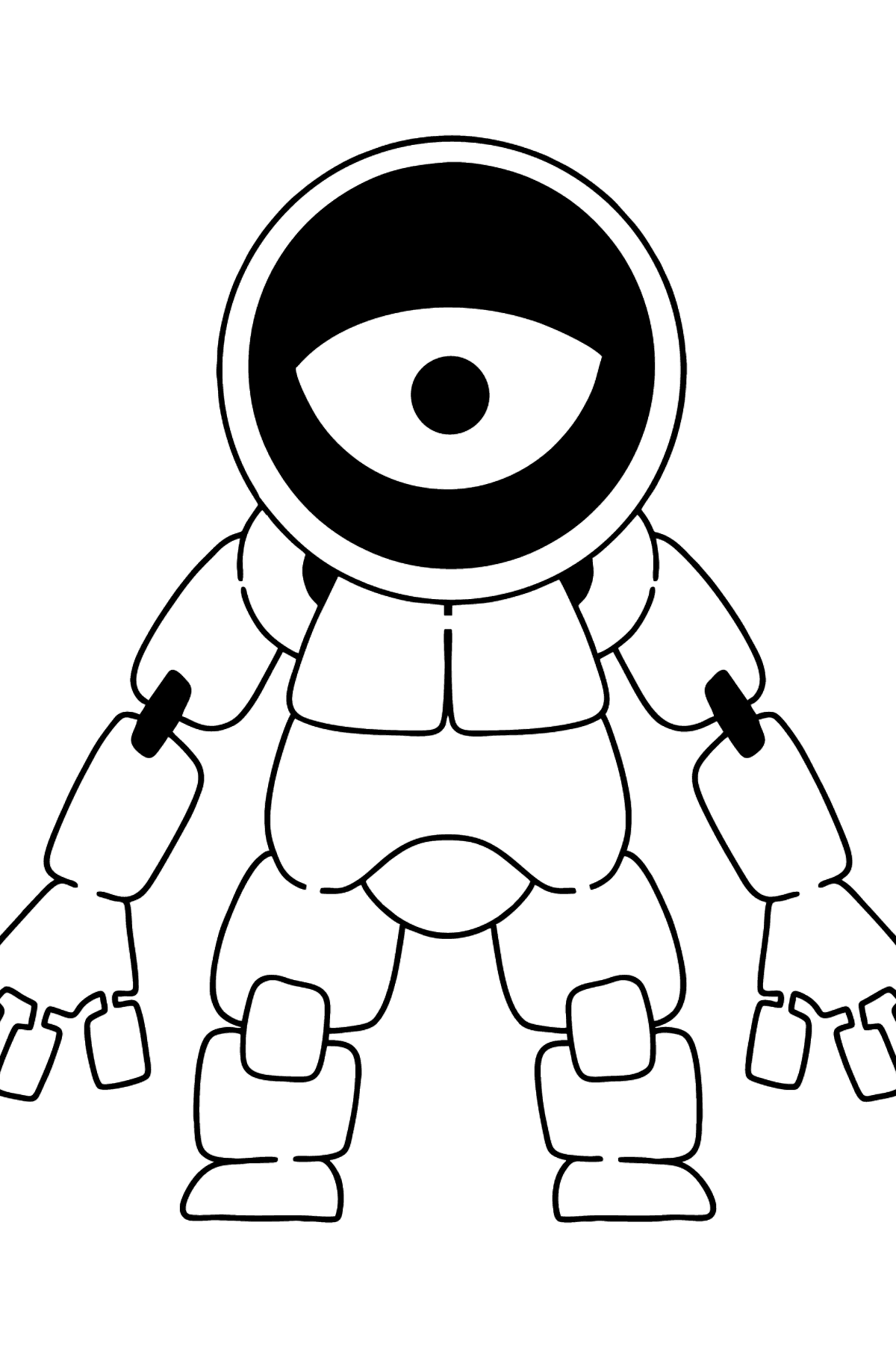 Cyclops Robot coloring page - Coloring Pages for Kids