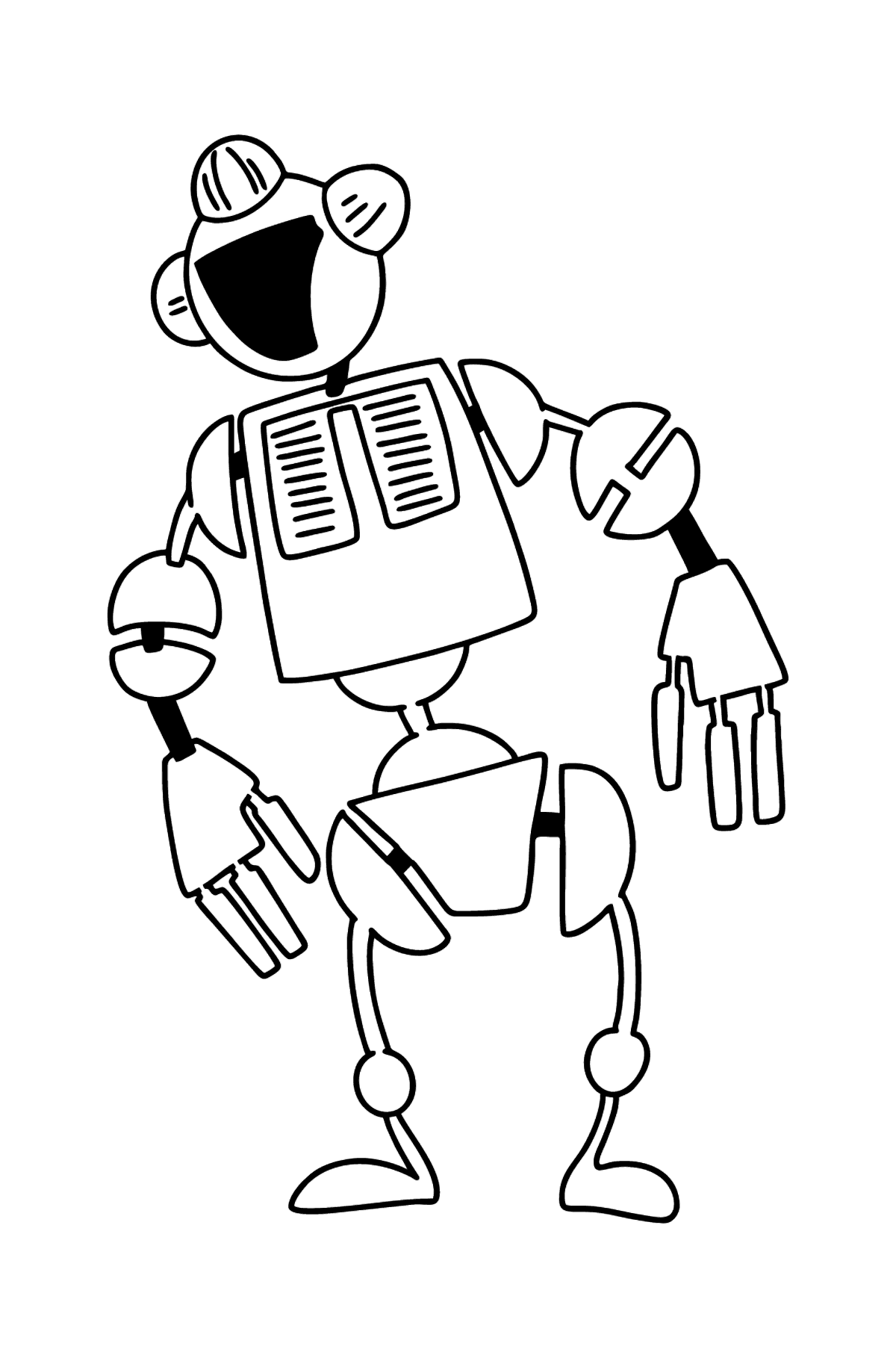 Robot coloring page - Coloring Pages for Kids