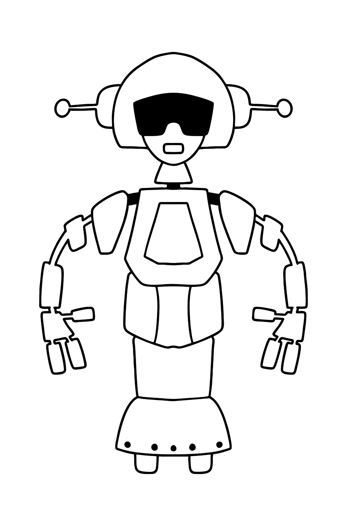 Robot Girl coloring page - Coloring Pages for Kids