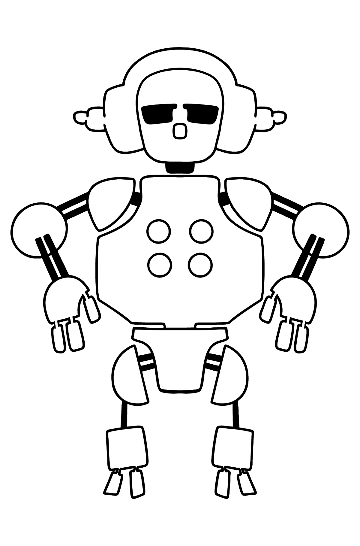 Robot with Headphones coloring page - Coloring Pages for Kids