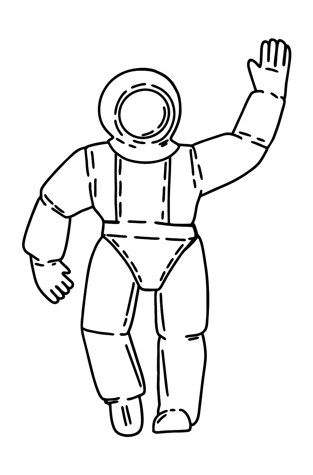 Astronaut coloring page - Coloring Pages for Kids