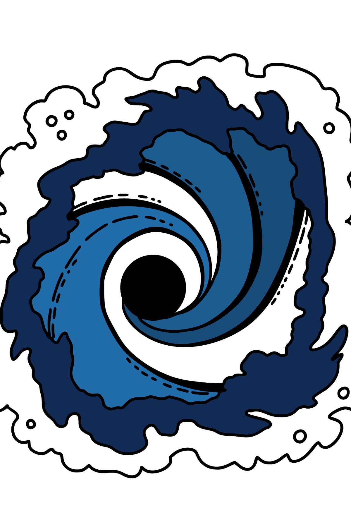 Black Hole coloring page - Coloring Pages for Kids