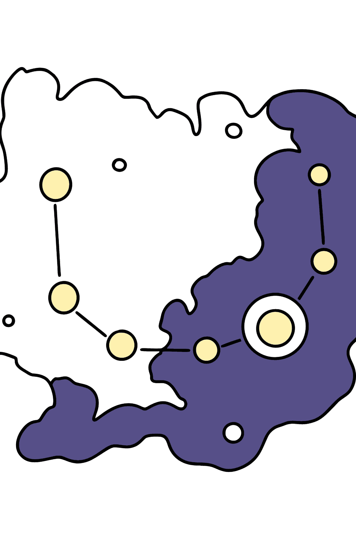 Constellation coloring page - Coloring Pages for Kids