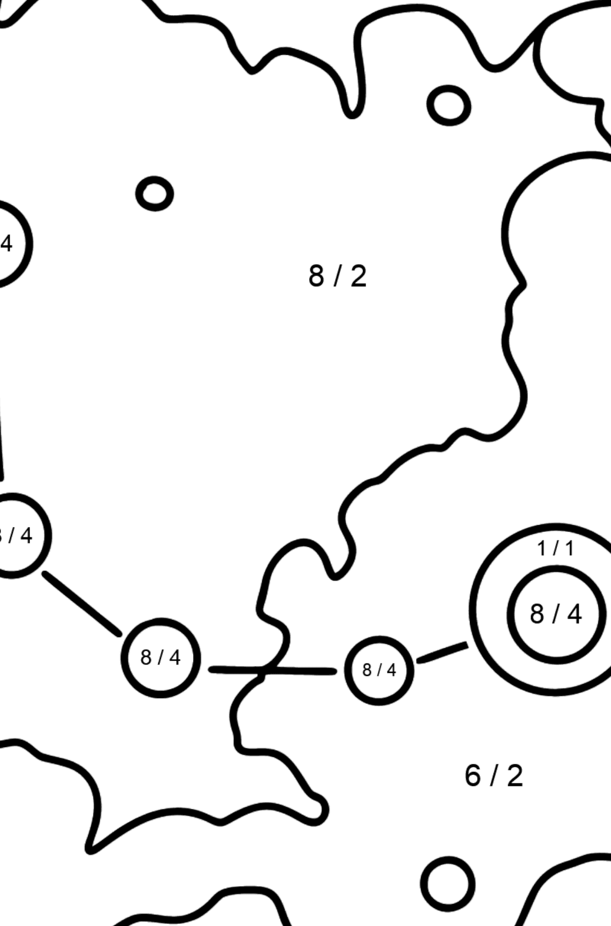 Constellation coloring page - Math Coloring - Division for Kids