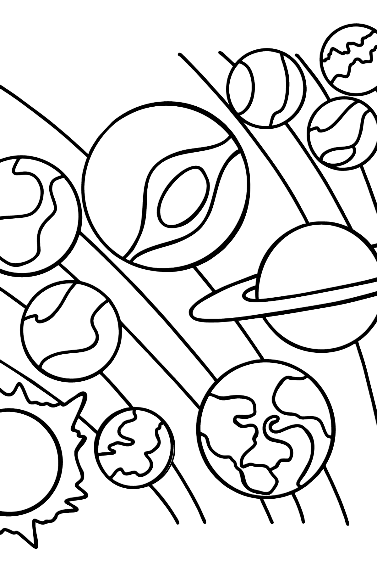 Solar System Coloring Page for kids - Coloring Pages for Kids
