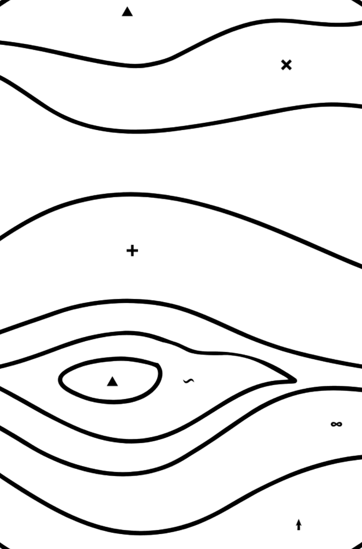 Jupiter coloring page - Coloring by Symbols for Kids
