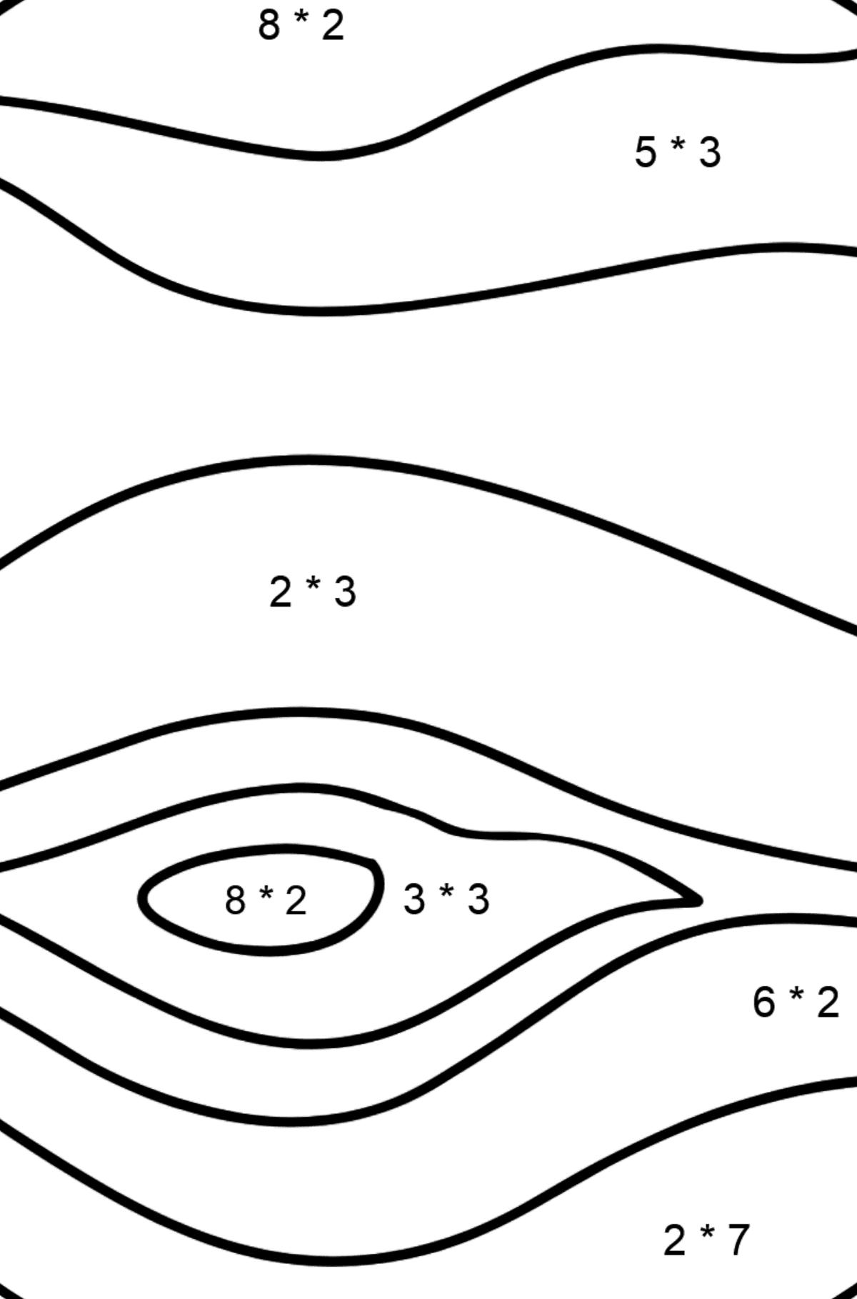 Jupiter coloring page - Math Coloring - Multiplication for Kids
