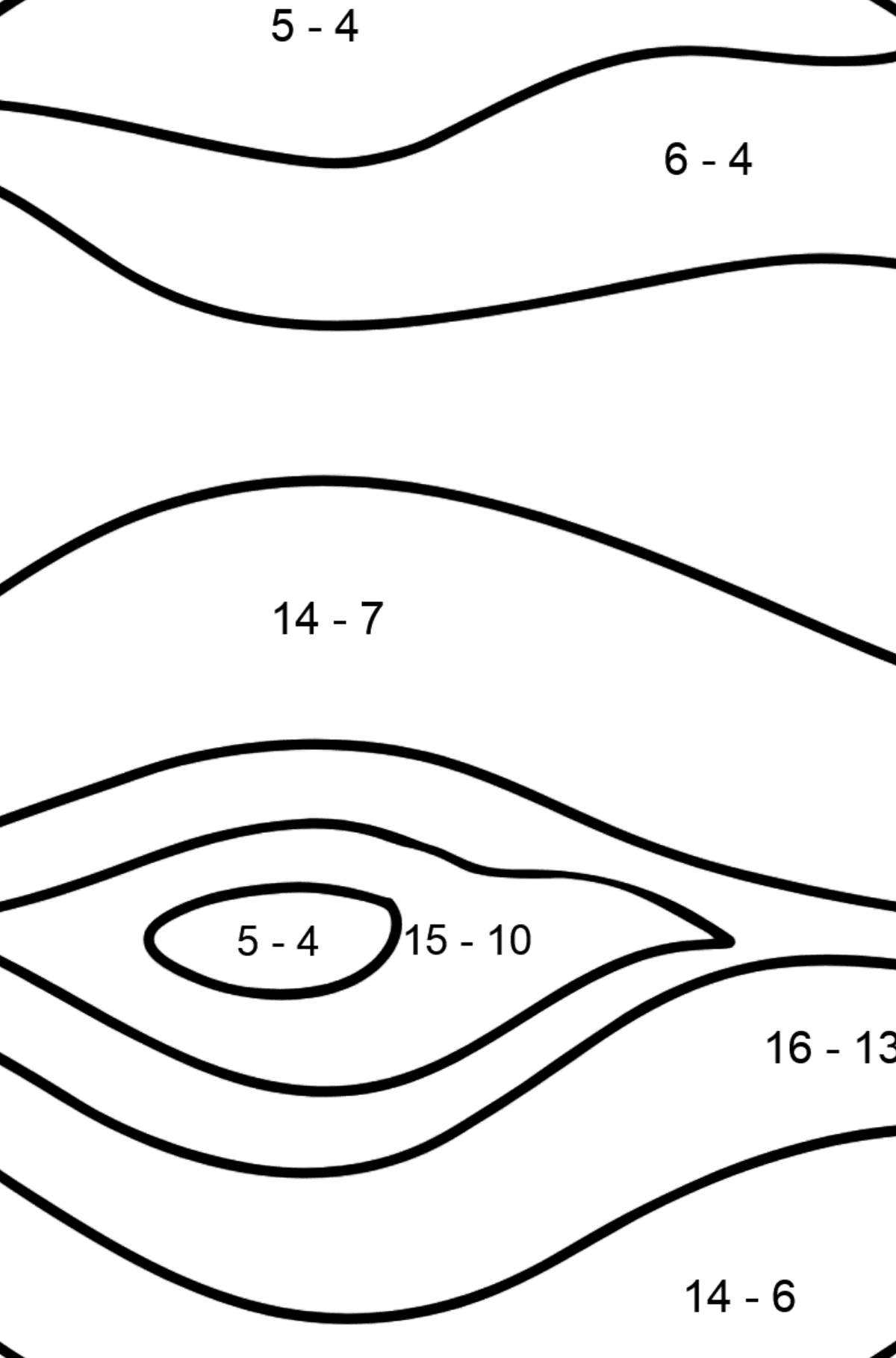 Jupiter coloring page - Math Coloring - Subtraction for Kids