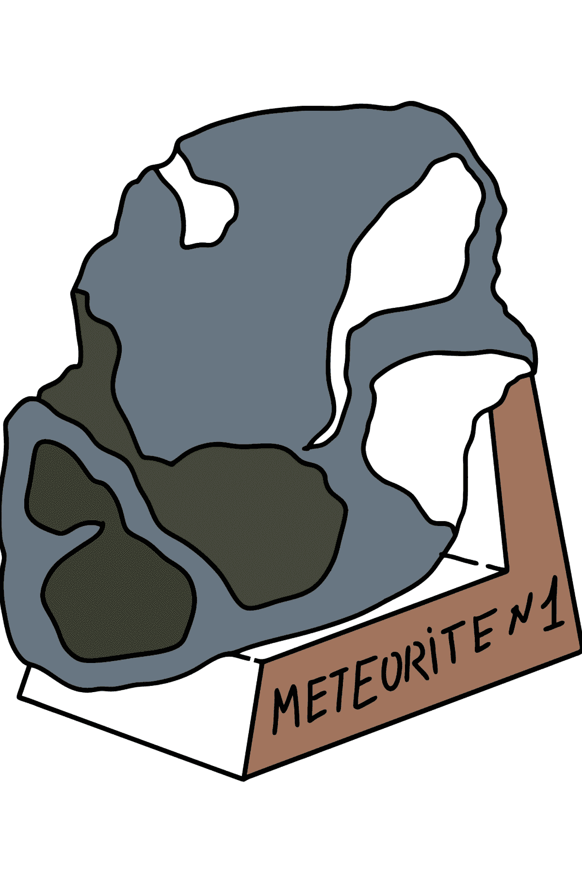 Meteorite coloring page - Coloring Pages for Kids