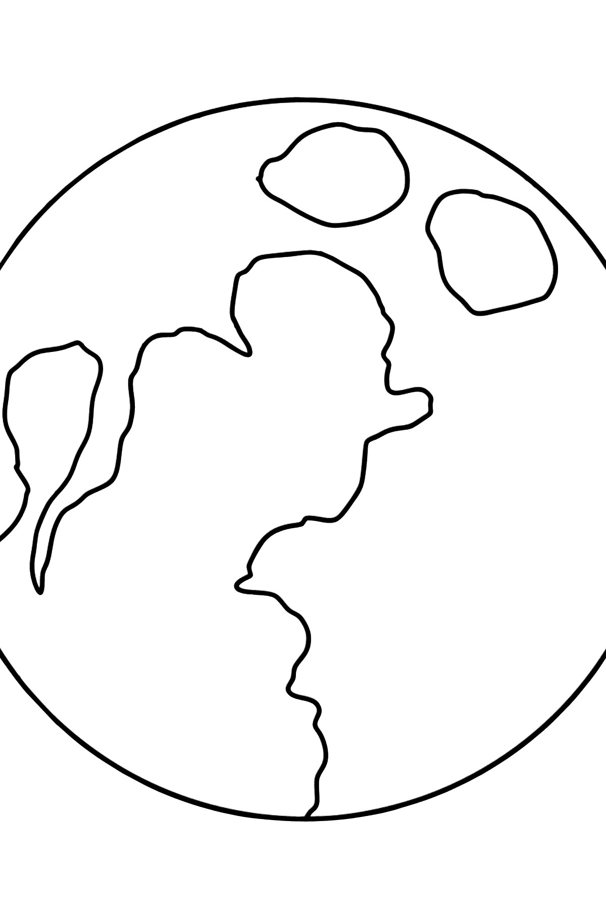 Moon coloring page - Coloring Pages for Kids