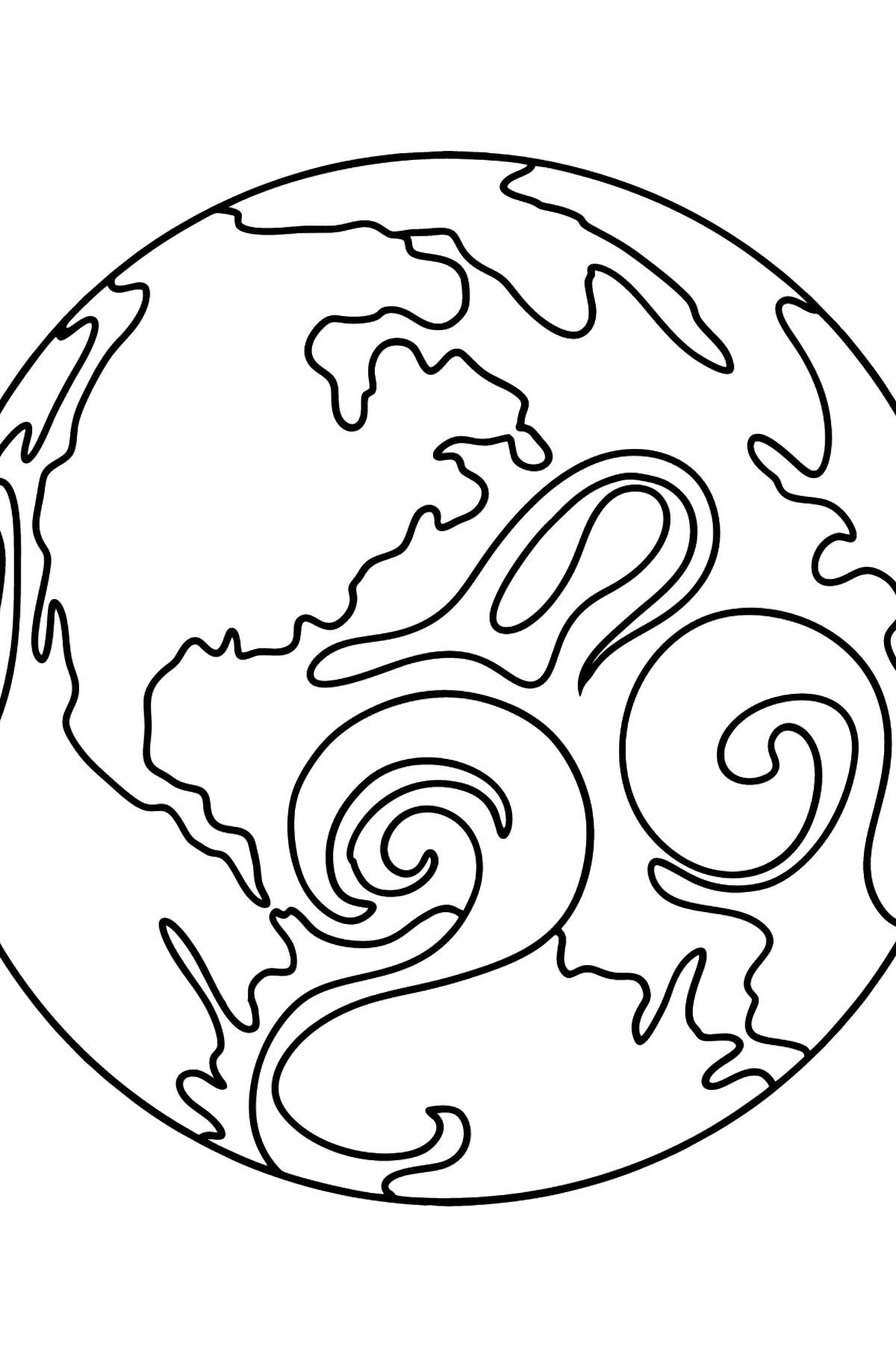 Planet Earth coloring page - Coloring Pages for Kids