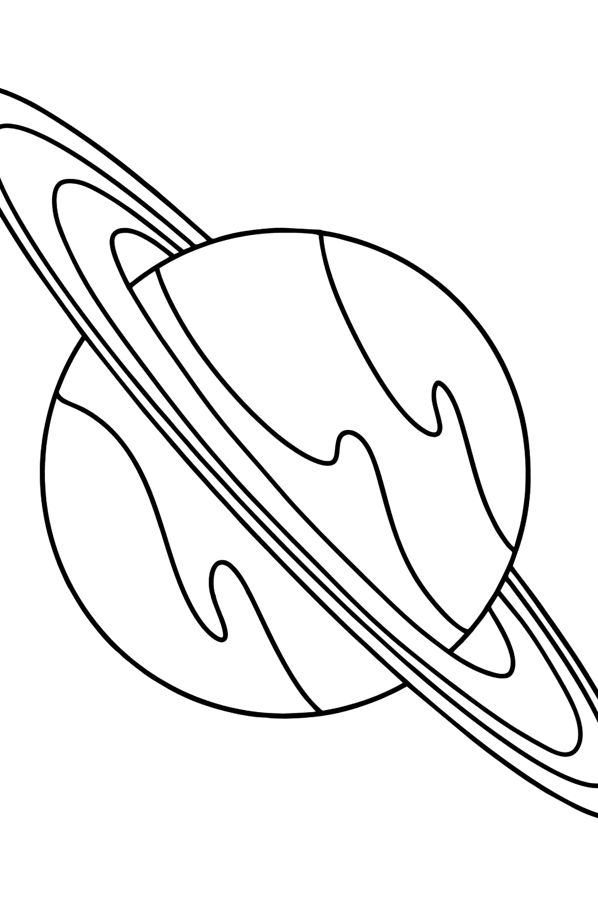 Saturn coloring page - Coloring Pages for Kids
