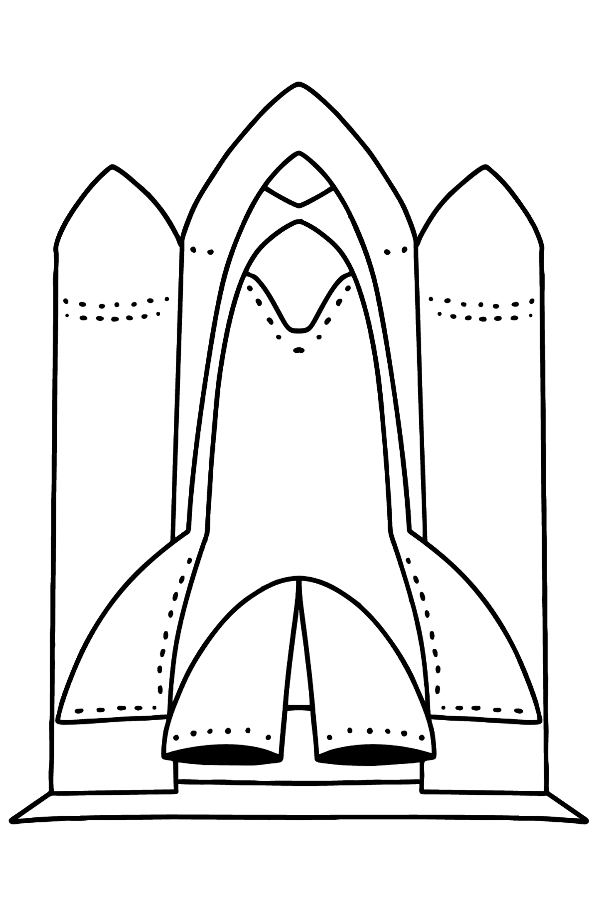 Shuttle coloring page - Coloring Pages for Kids