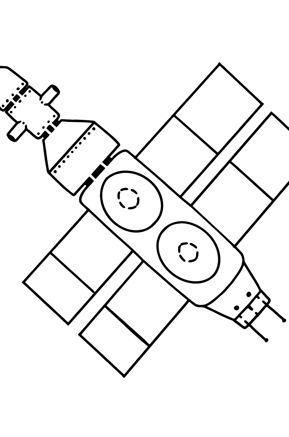 Spaceship coloring page - Coloring Pages for Kids