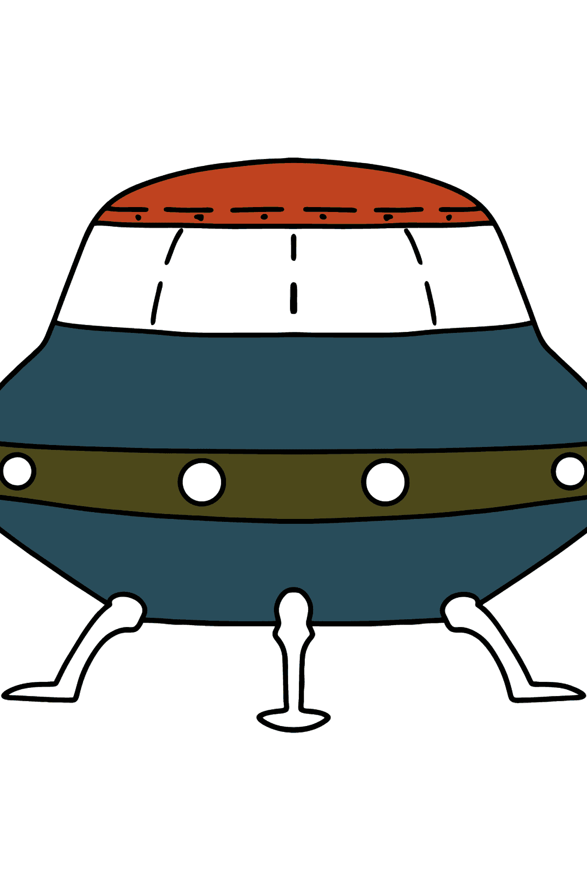 Ufo coloring page - Coloring Pages for Kids