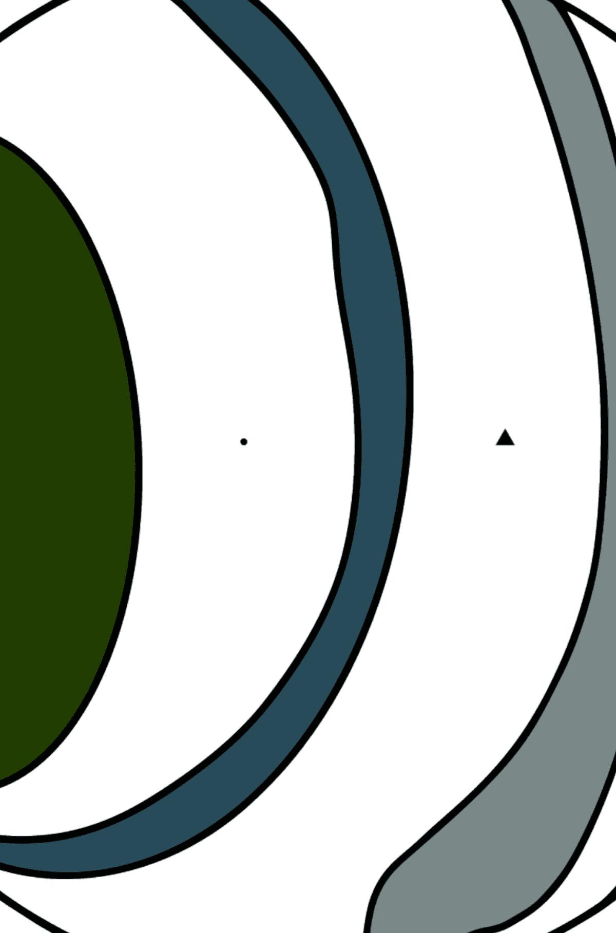 Раскраска Уран - Раскраска по Символам для Детей
