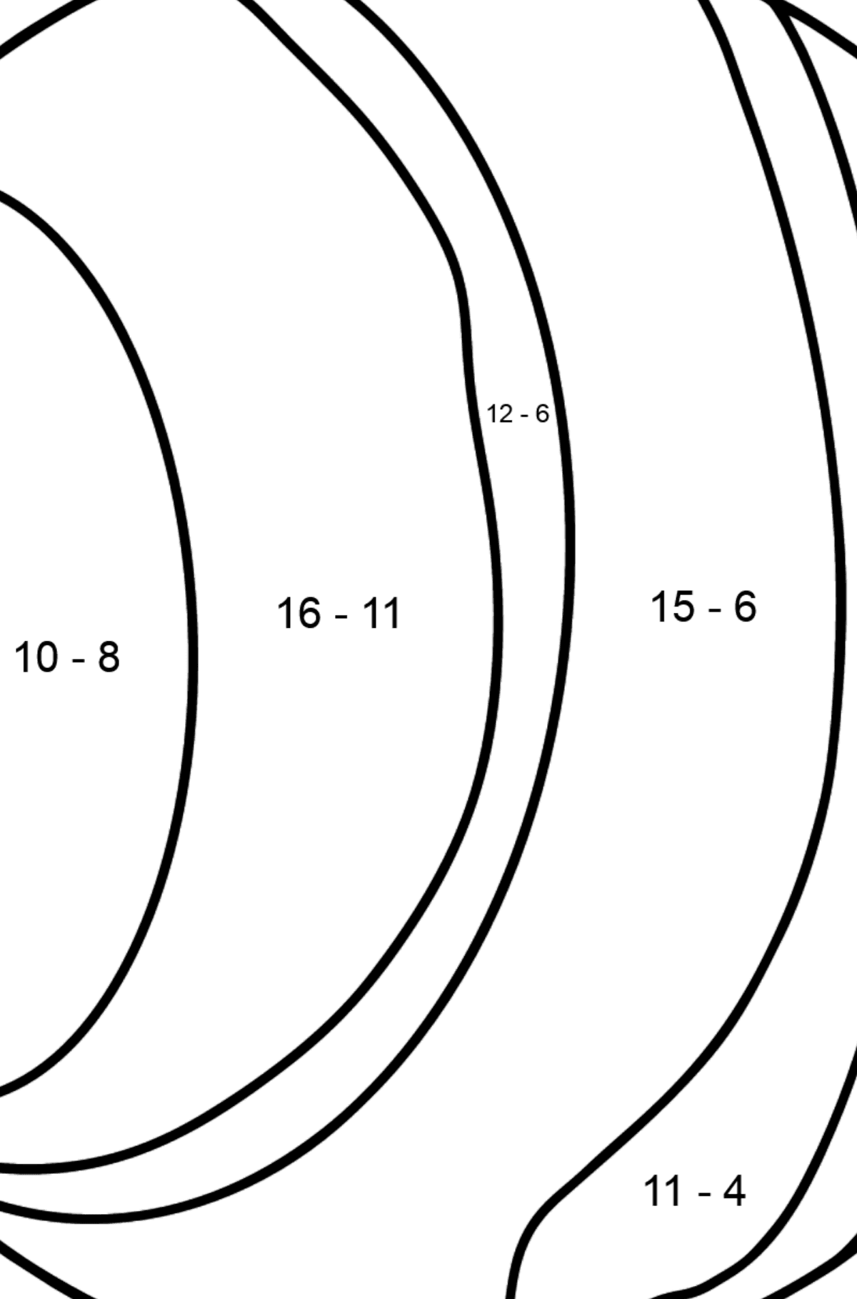 Uranus coloring page - Math Coloring - Subtraction for Kids