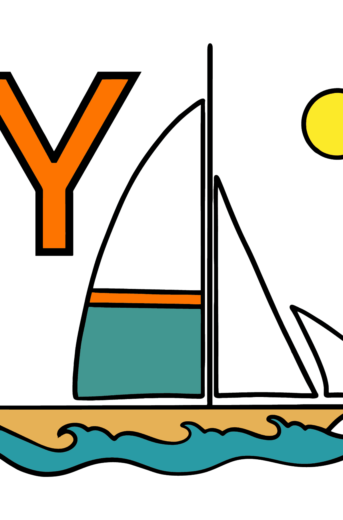 Spanish Letter Y coloring pages - YATE - Coloring Pages for Kids
