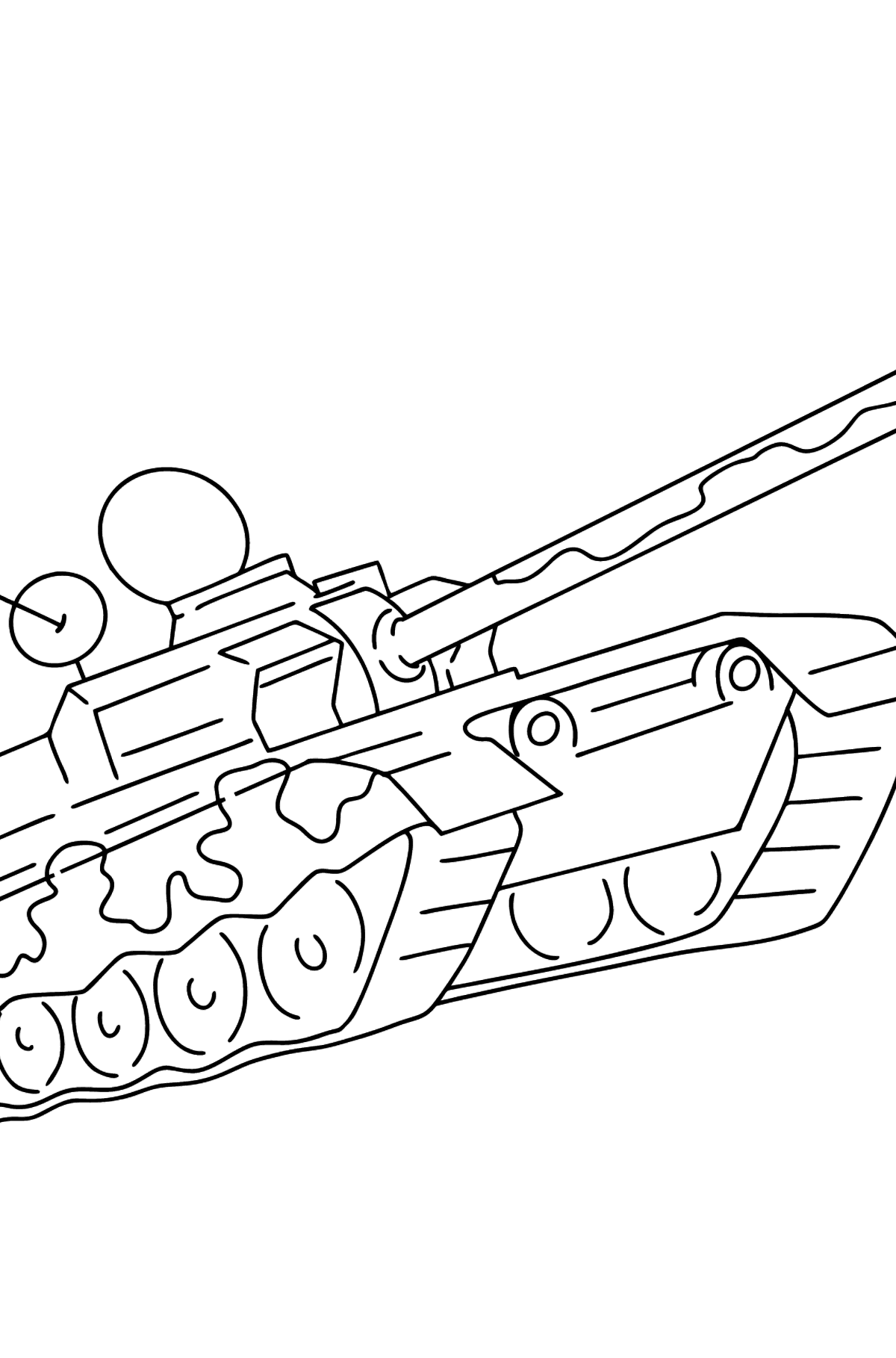 Military Tank coloring page - Coloring Pages for Kids