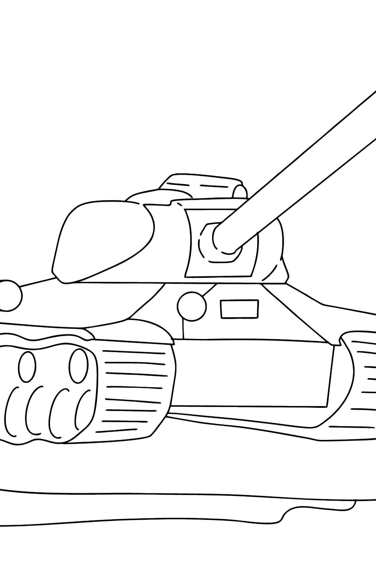 Coloriage - Tank IS 2 - Coloriages pour les Enfants