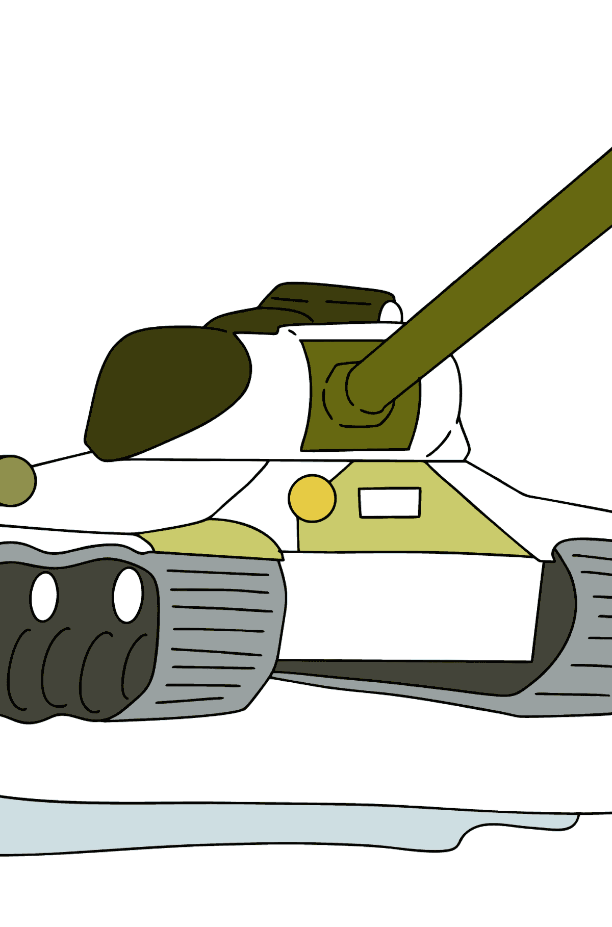 Tank IS 2 coloring page - Coloring Pages for Kids