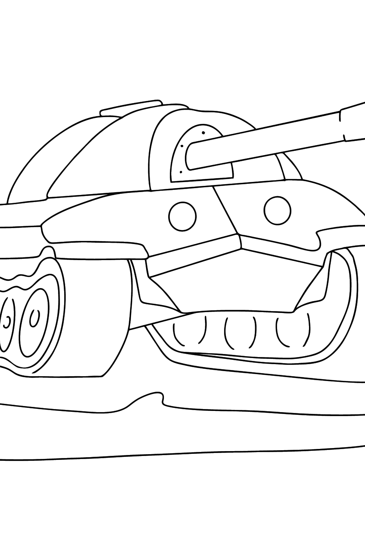 Tank IS 7 coloring page - Coloring Pages for Kids