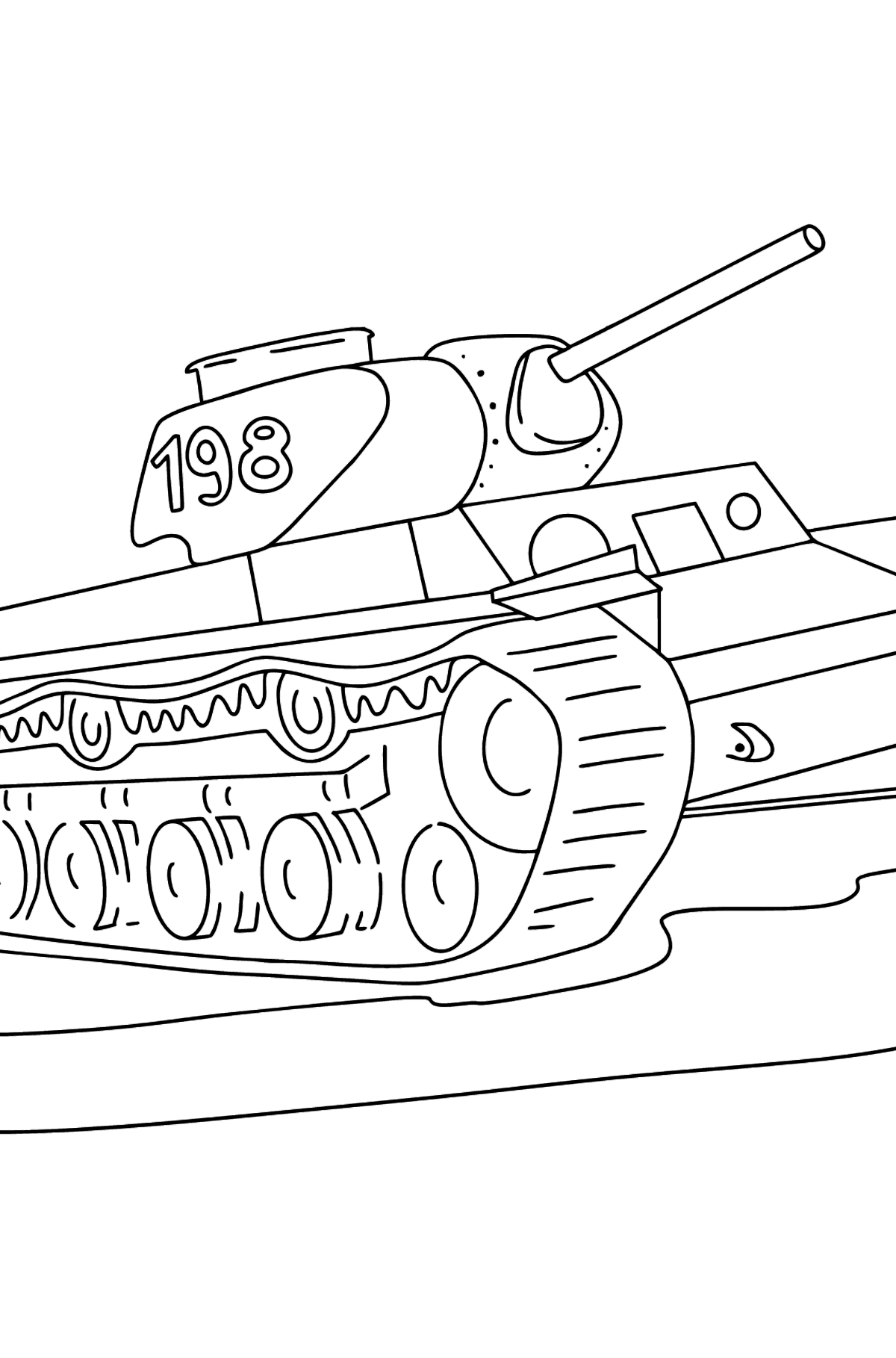 Tank KV 1 coloring page - Coloring Pages for Kids