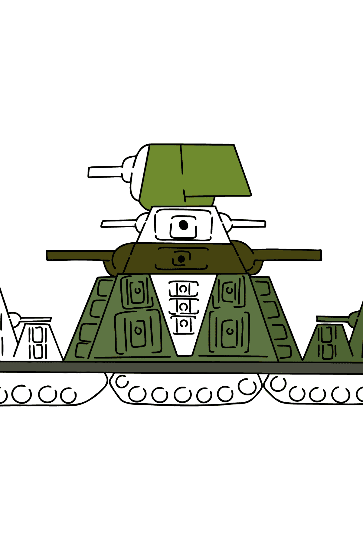 Tank KV 44 coloring page - Coloring Pages for Kids