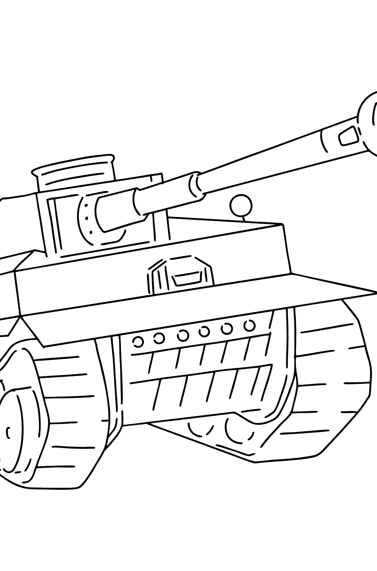 Tank Panther coloring page - Coloring Pages for Kids