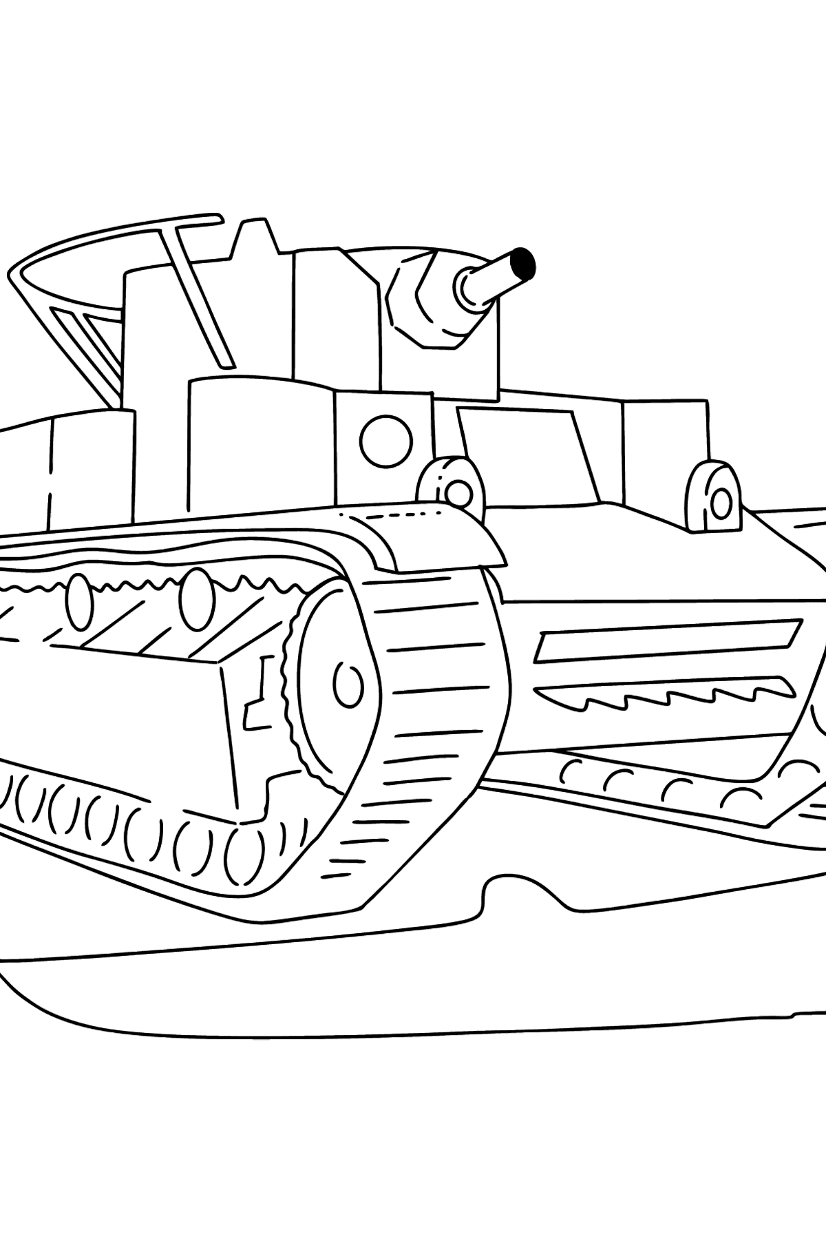 Tank T 28 coloring page - Coloring Pages for Kids