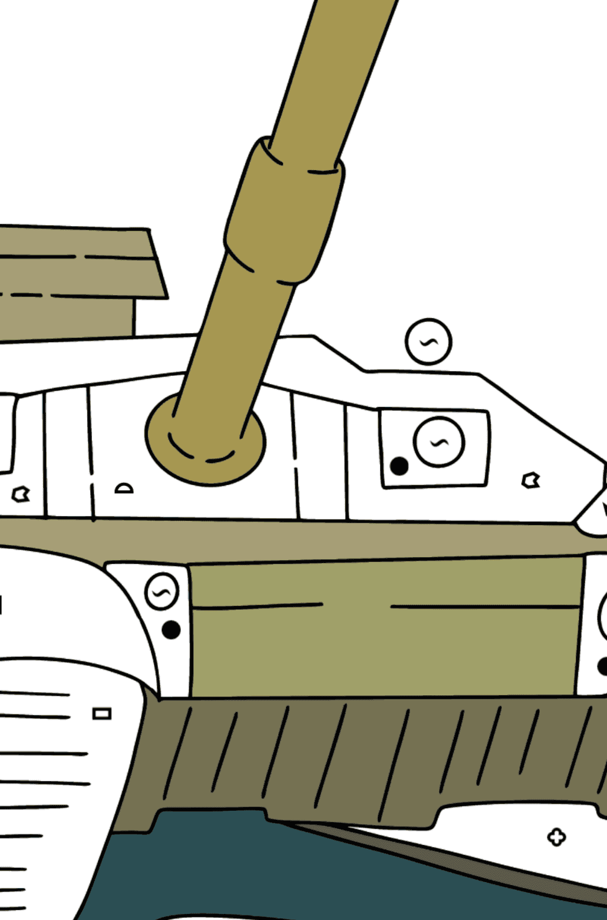 Tank T 90 coloring page - Coloring by Symbols and Geometric Shapes for Kids