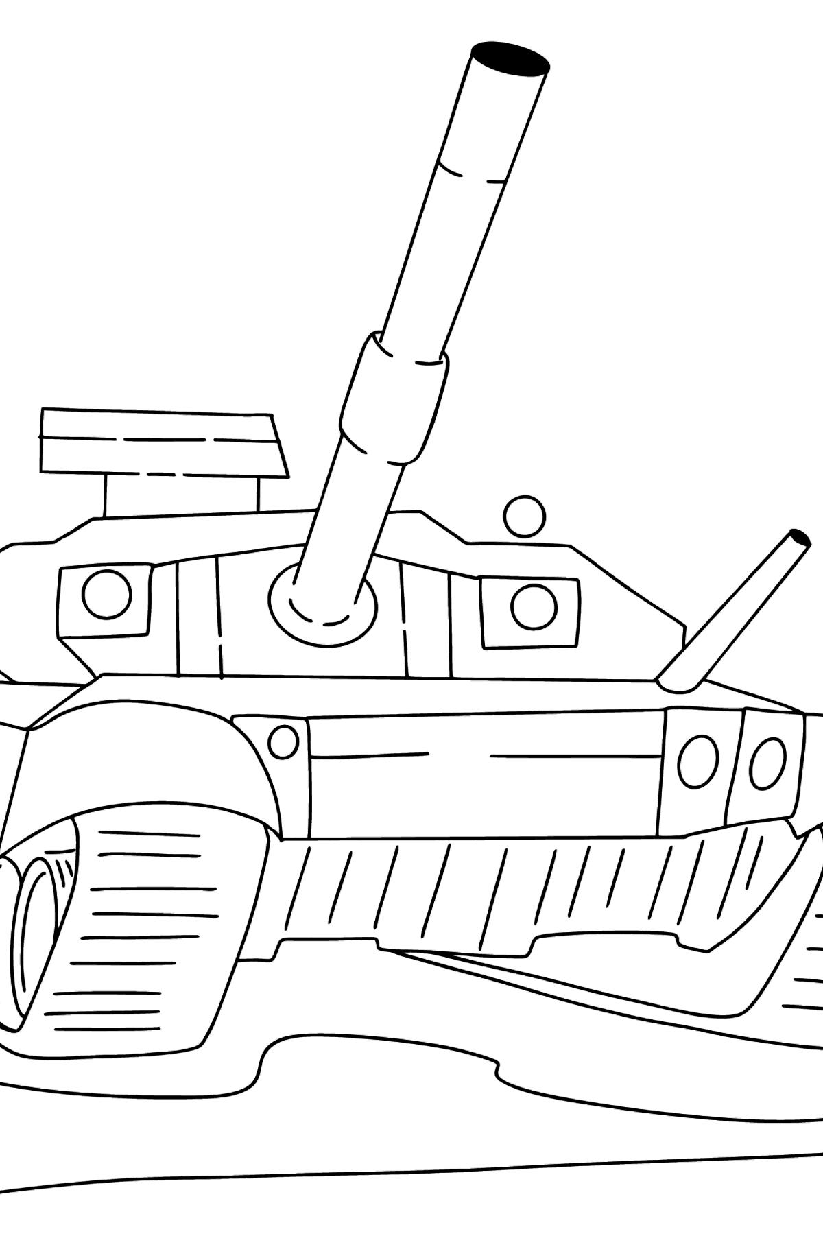 Раскраска Танк Т90 - Картинки для Детей