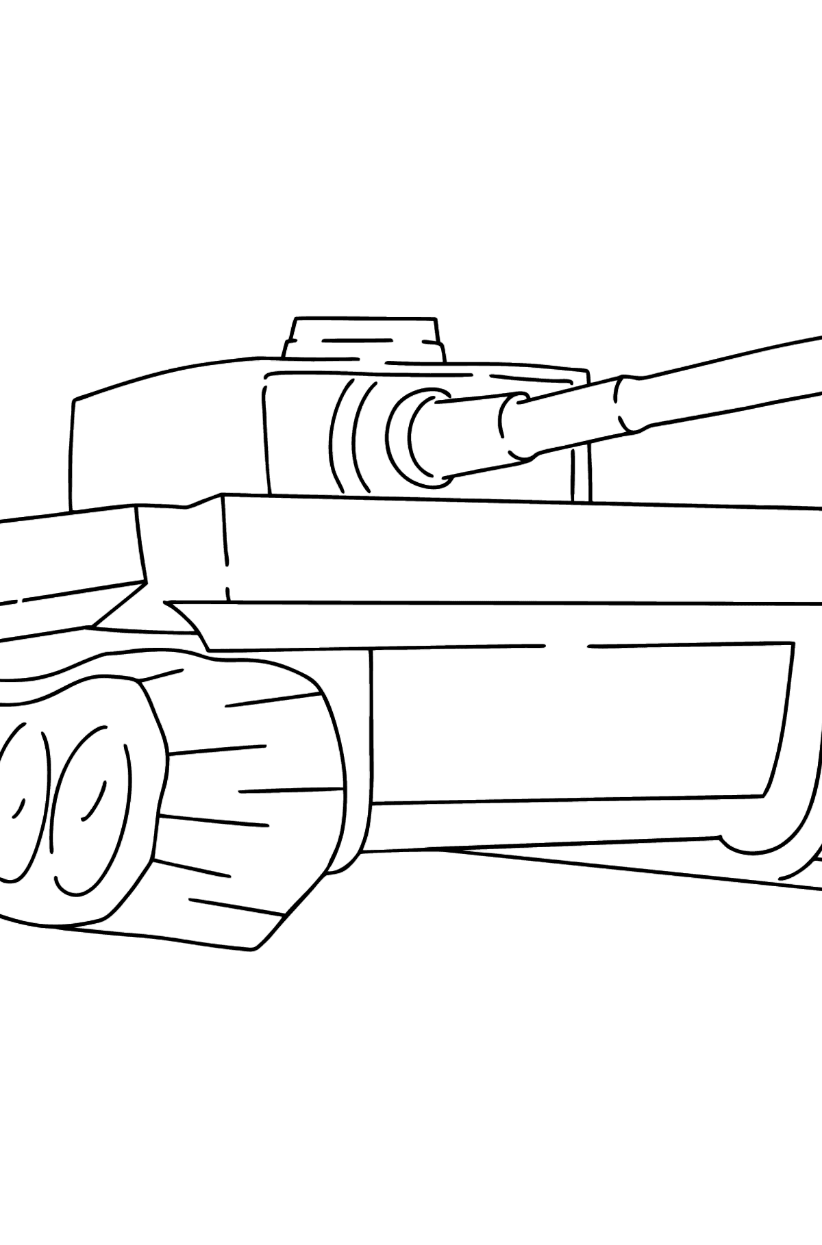 Tank Tiger coloring page - Coloring Pages for Kids
