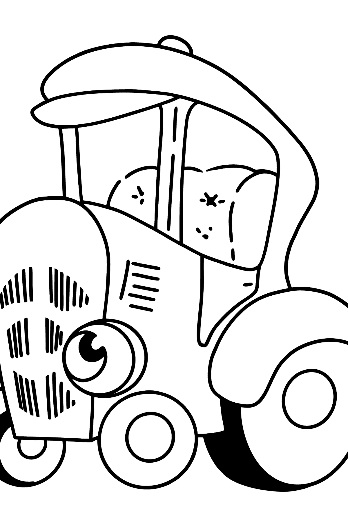 Blue Tractor coloring page - Coloring Pages for Kids
