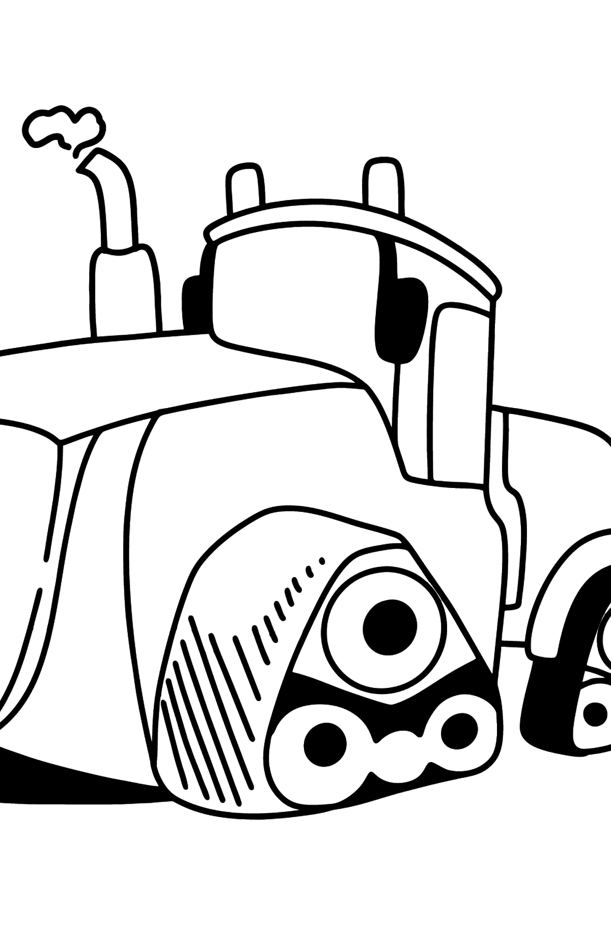 John Deere 9620RX Crawler Tractor coloring page - Coloring Pages for Kids